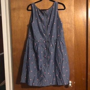 LOFT Dresses - Loft A-Line Polka dot dress size 16